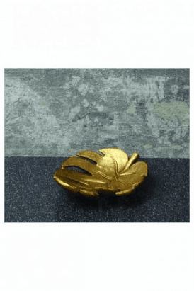 Leaf Trinket Dish GOLD