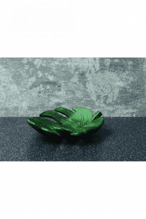 Leaf Trinket Dish Green