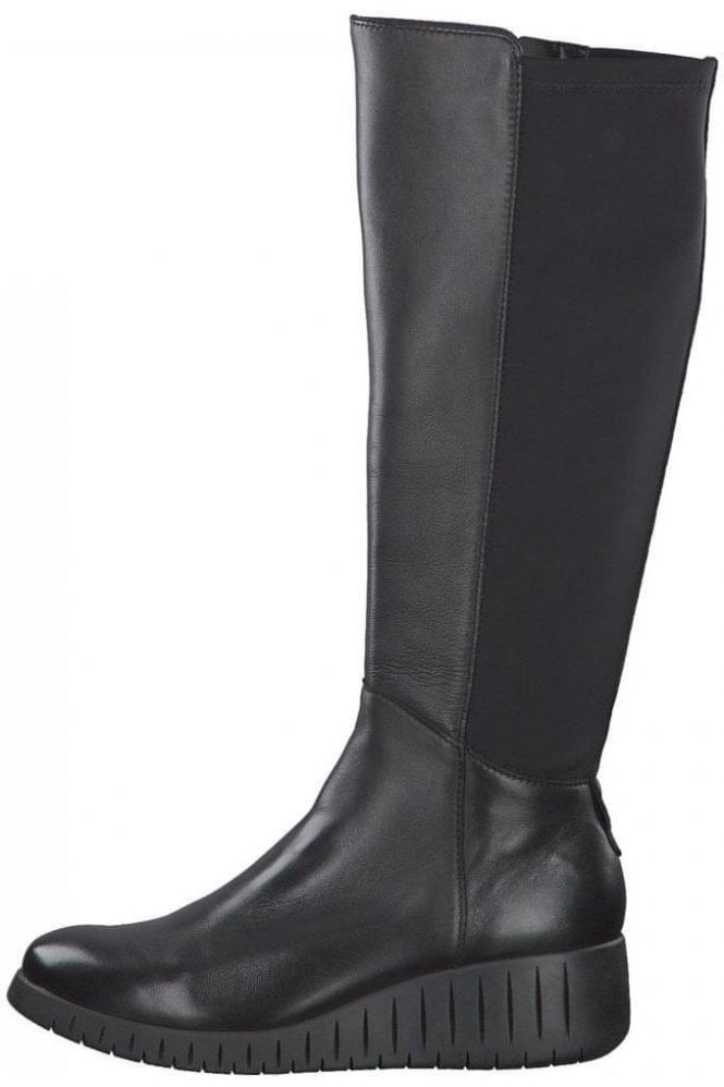Leather Comfort Fit Long Boot - Marco Tozzi