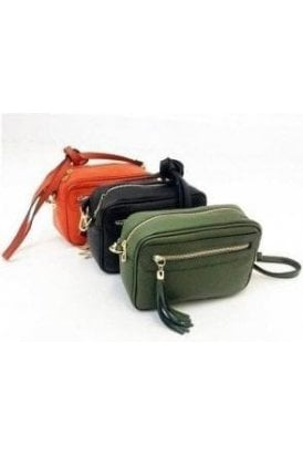 Leather Designer Long Strap Bag