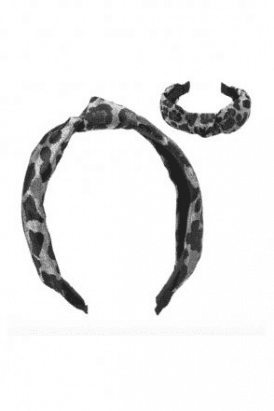 Leopard Grey Hair Band
