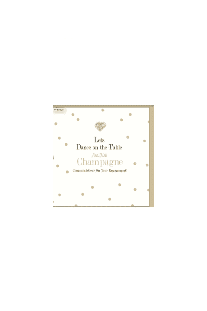 Lets Dance on the Table and Drink Champange Engagement Card