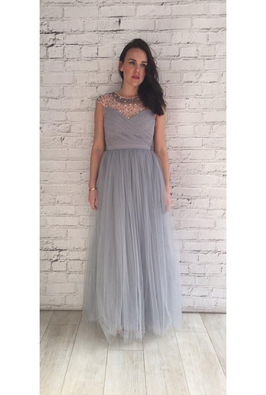Tulle skirt maxi dress