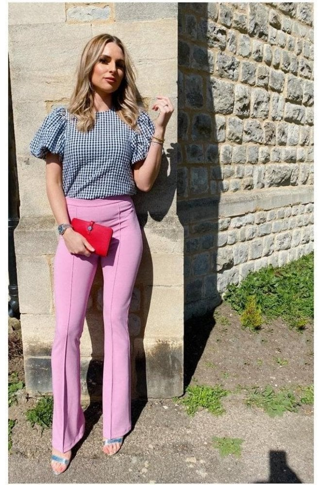 Lizzo Seam Detail Trousers Pink