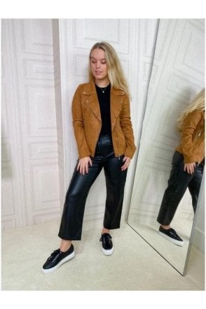 Lola Faux Suede Jacket Tan