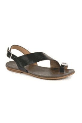 Black Borneo Toe Loop Sandal