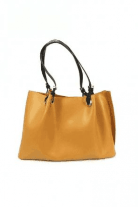 Mustard Corsetto Large Handbag