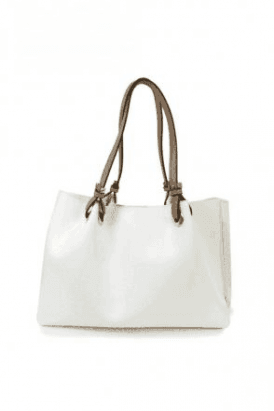 White Corsetto Large Handbag