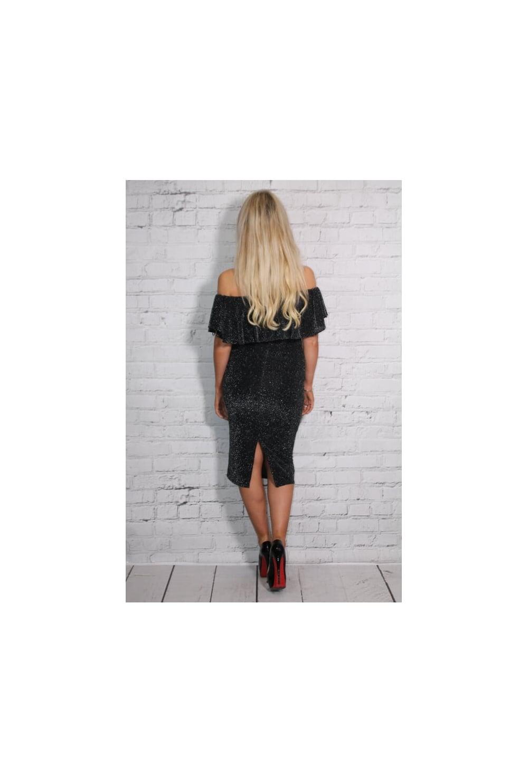 8c4db587 Lurex sparkle Off shoulder Frill Dress - from Ruby Room UK