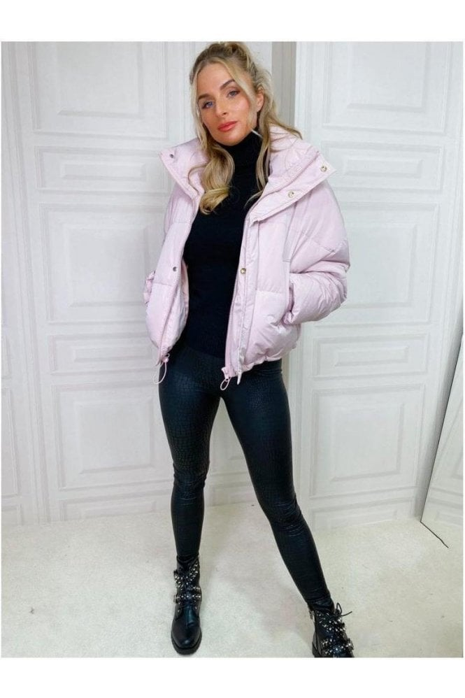Lux Short Puffa Jacket Pink