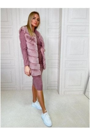Luxurious Faux Fur Gilet Pink