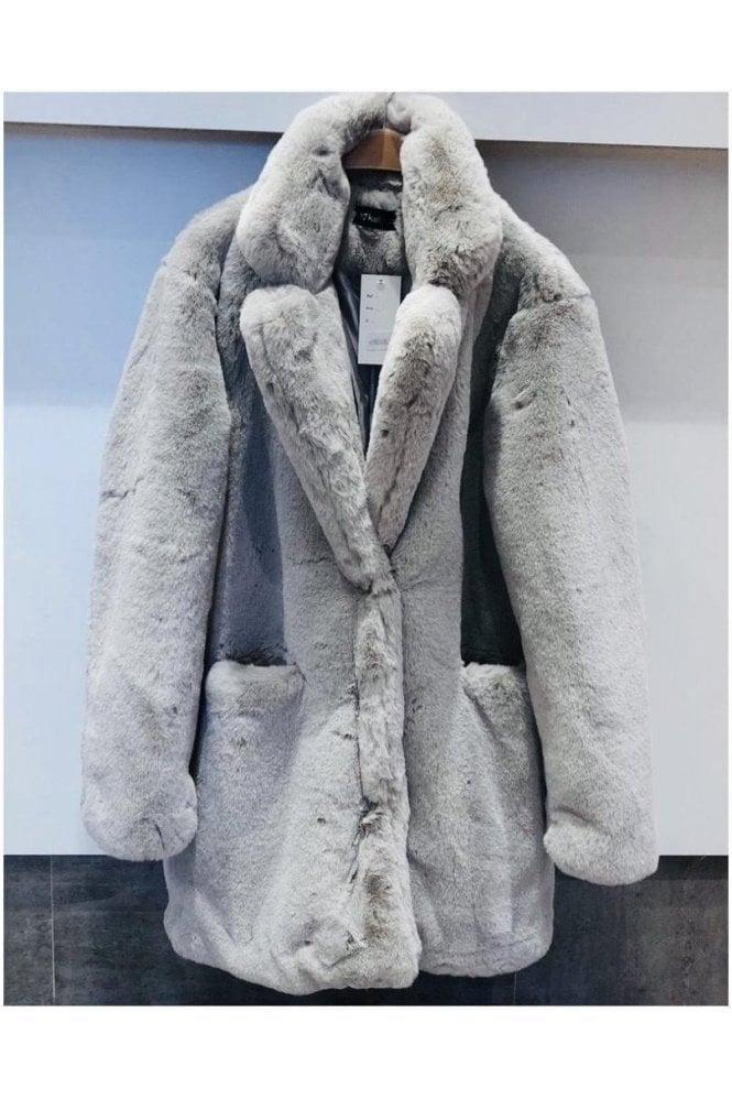 Luxury Faux Fur 3/4 Coat
