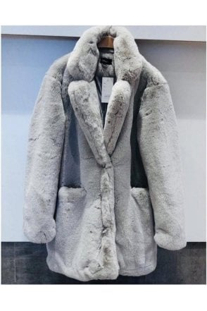 Luxury Faux Fur 3/4 Coat