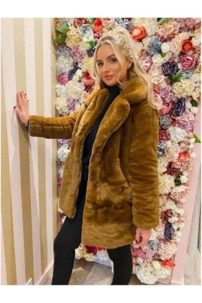Luxury Super Soft Tan Fur Coat
