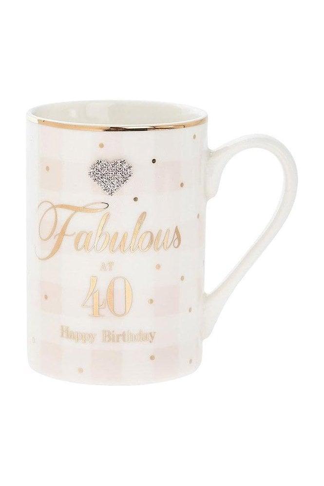 Mad Dots Birthday 40th mug