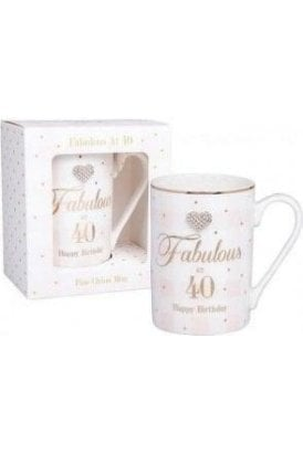 Mad Dots Birthday 40th mug