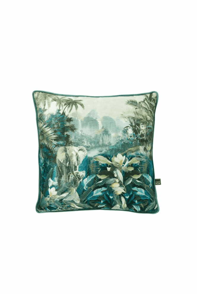 Malawi 58x58cm Cushion, Green