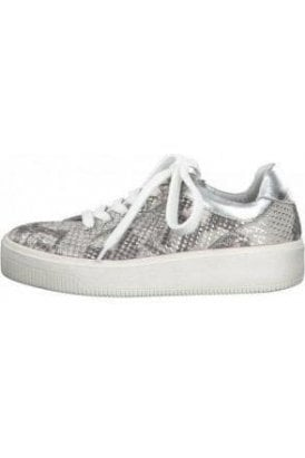 Marco Tozzi - Snake print lace up