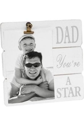 Message Clip Frame Dad