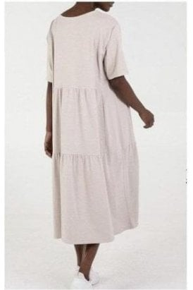 Mia Tiered Easy Dress Cream