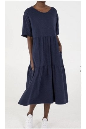 Mia Tiered Easy Dress Navy