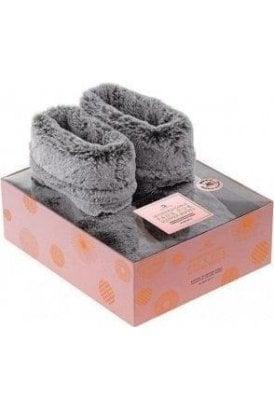 Microwaveable Faux Fur Slipper Boots