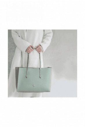 Mint Green Bee Shopper Tote Bag