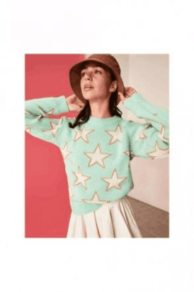 Mint Star Jumper