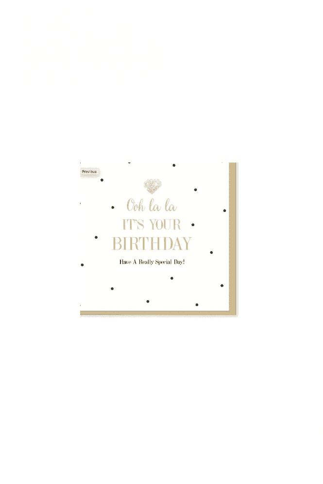 Oh La La Birthday Card