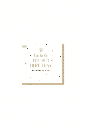 Oh La La Birthday Card