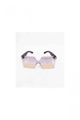 OMBRE OVERSIZED SQUARE SUNGLASSES WITH SMOKE LENS