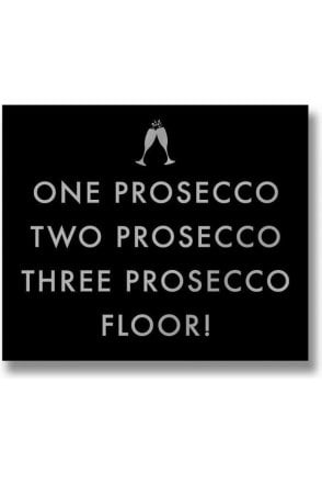 One Prosecco Metalic Detail Plaque