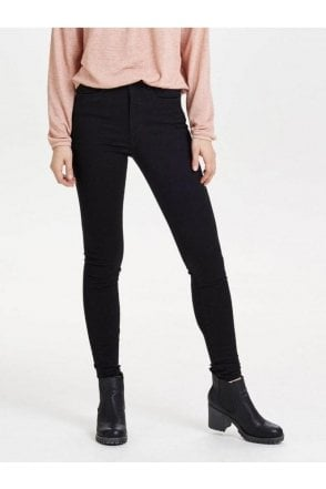 ONLY BLACK SKINNY JEANS WITH HIGH WAIST.