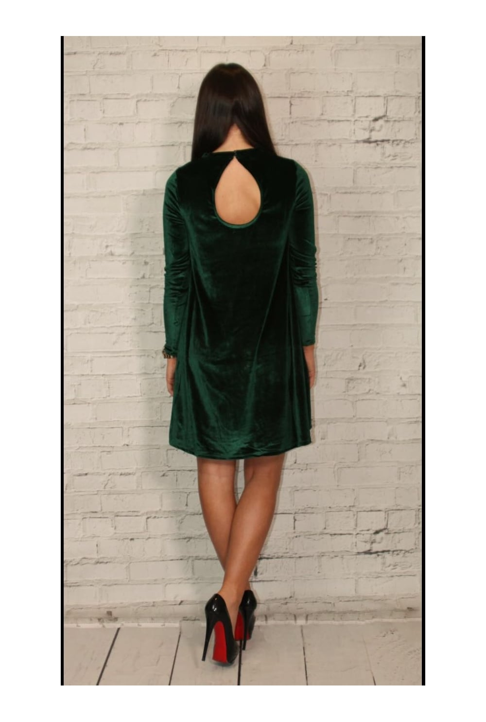 f59017f6fa4e Only Green Velvet swing Dress - Only from Ruby Room UK