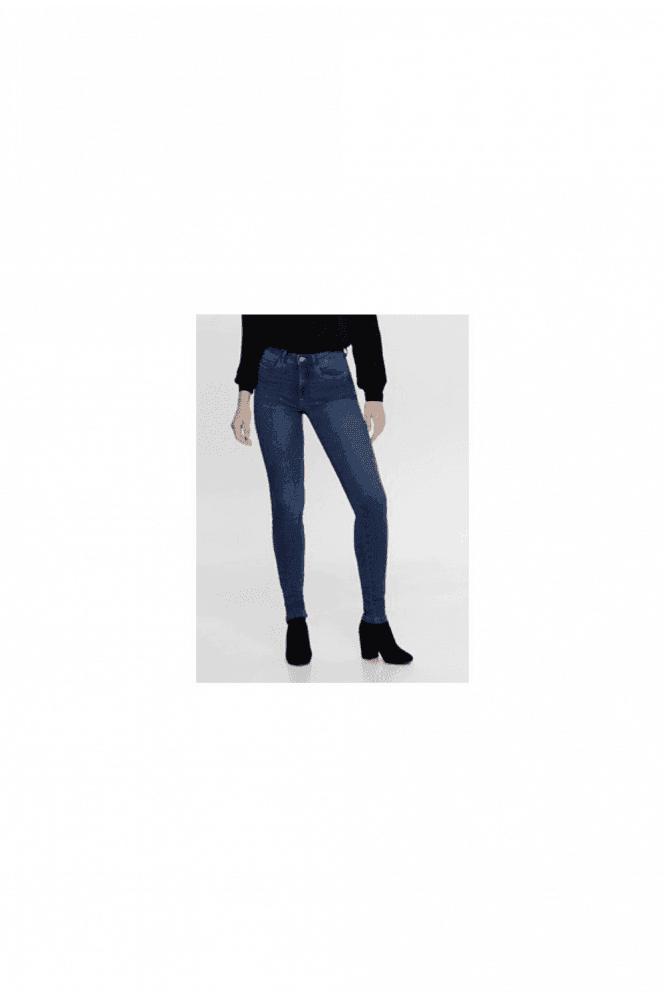 Only MID BLUE ROYAL HIGH WAIST SKINNY FIT JEANS