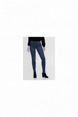 MID BLUE ROYAL HIGH WAIST SKINNY FIT JEANS