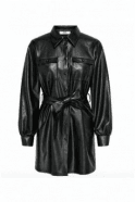 Only SALE RUMA FAUX LEATHER SHIRT DRESS