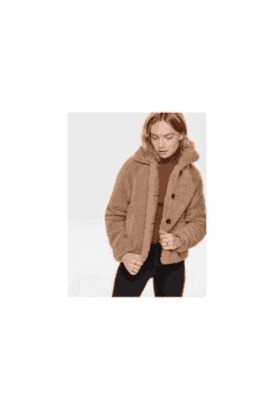 SALE Soft Teddy Fur Camel Jacket SALE