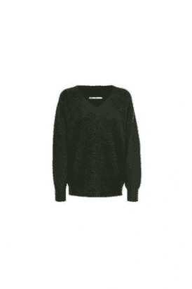 SALE TORI V NECK KNIT PULLOVER