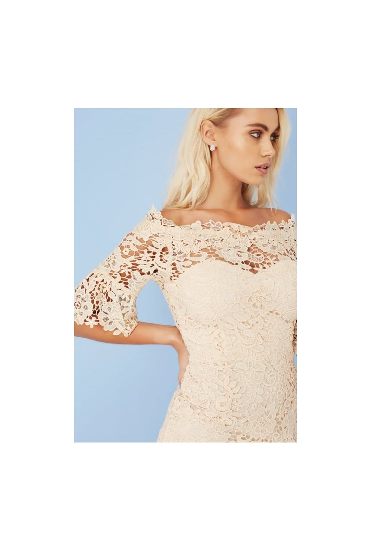AX Paris Crochet Top Prom Dress   White crochet dress
