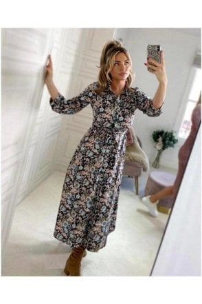 Beau Print Shirt Dress