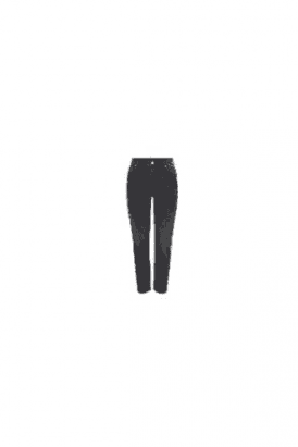 High Waist Black Straight Jeans