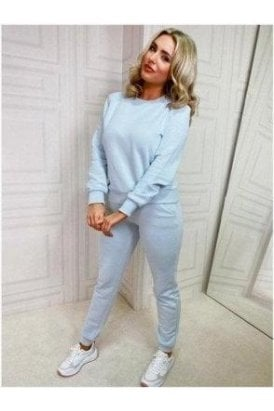 Light Bluey Grey Sweat Top