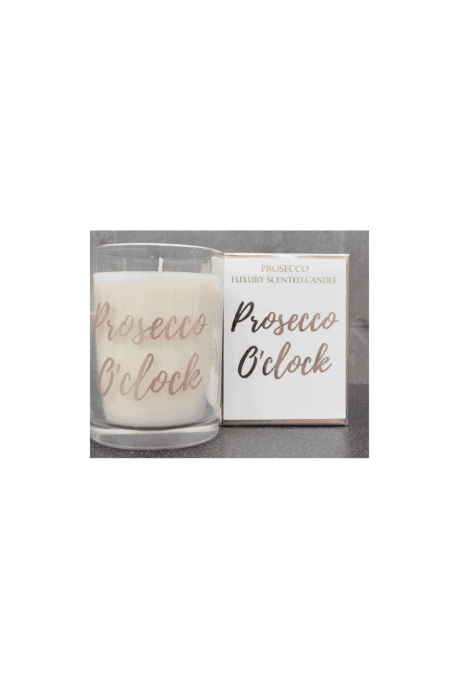 Prosecco O'Clock Wax Filled Pot Candle in Gift Box Prosecco Scent 220g