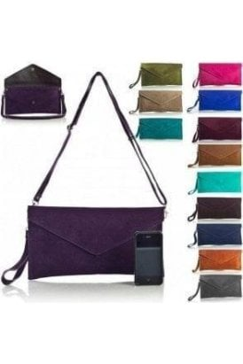 Real Suede Clutch Bag