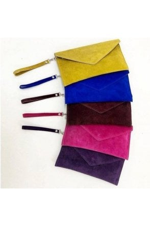 REAL SUEDE ENVELOPE BAG