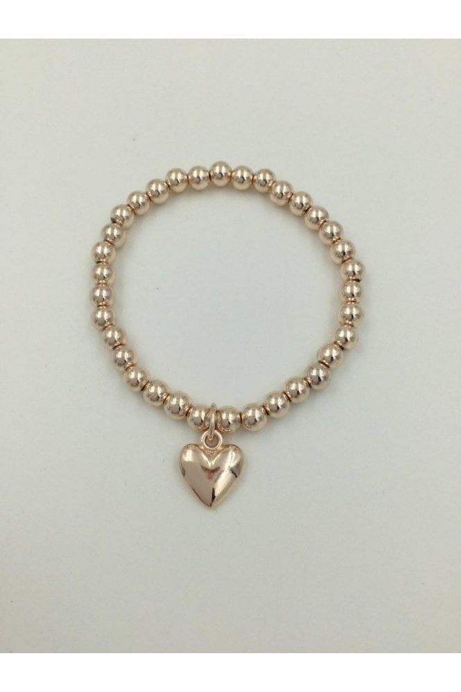 ROSE GOLD COLOURED HEART BRACELET