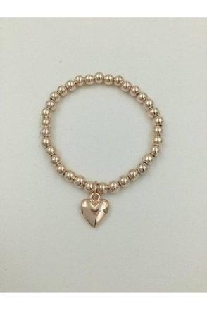 ROSE GOLD COLOURED HEART BRACELET