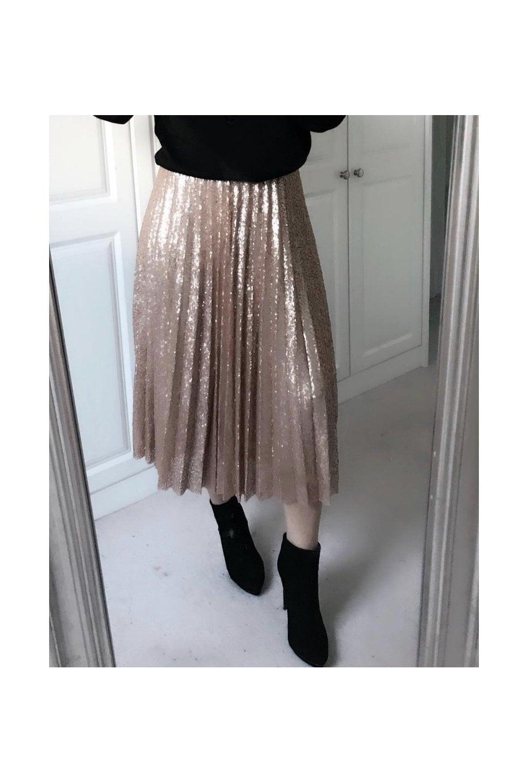 71261cafc93c Rose Gold Sequin Skirt · Rose Gold Sequin Skirt. ‹