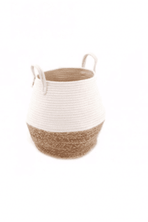 Round Natural Woven Basket - Large